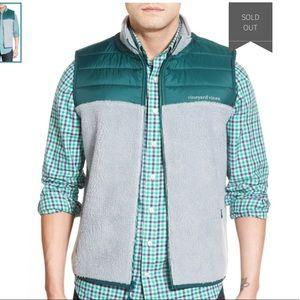 Vineyard Vines Color Block  Fleece Vest Size XL